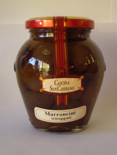 Marrons glacés entiers en sirop