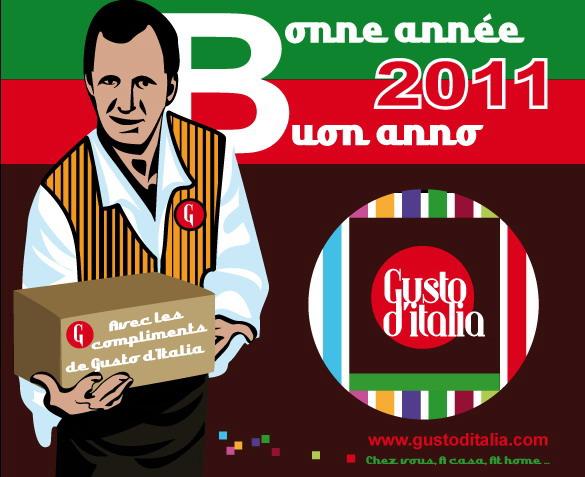 Gusto d'Italia vous souhaite une excellente Nouvelle Année !