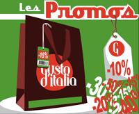 Les promotions de Gusto d'Italia